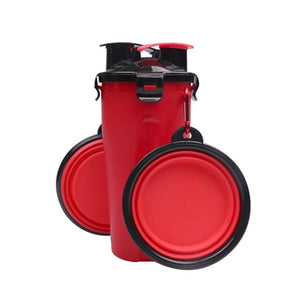 Water Container with 2 Collapsible Bowls