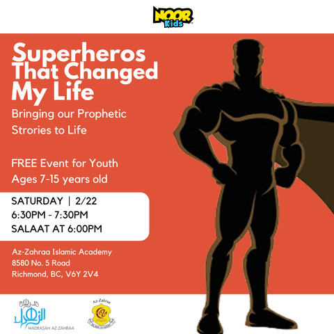 Noor Kids live event for youth at Az-Zahraa Islamic Academy