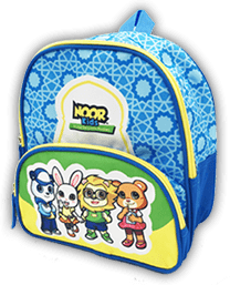 Noor Kids Baby Books Backpack open