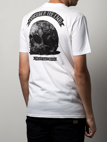 Heathen 'Consider The End' Tee. White.