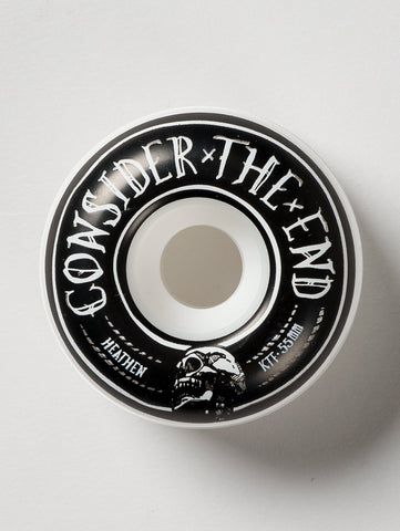 Heathen 'Consider The End' Wheels. White/Black. 55mm.