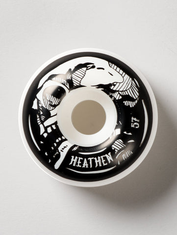 Heathen 'Cranium' Wheels. White/Black. 57mm.