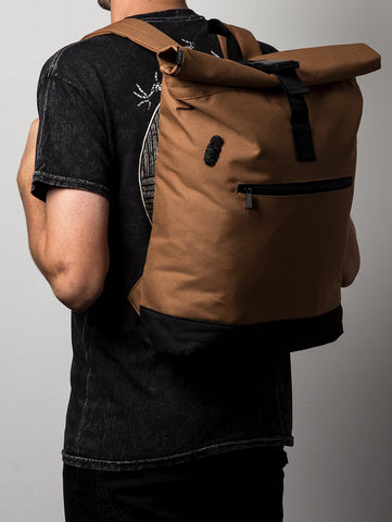 Heathen 'Hammerhead' Backpack. Caramel.