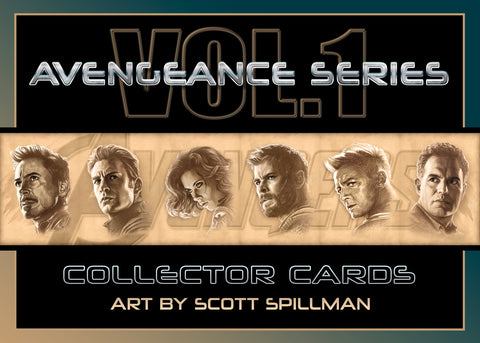5 X 7 AVENGERS CARD SET - VOL 1