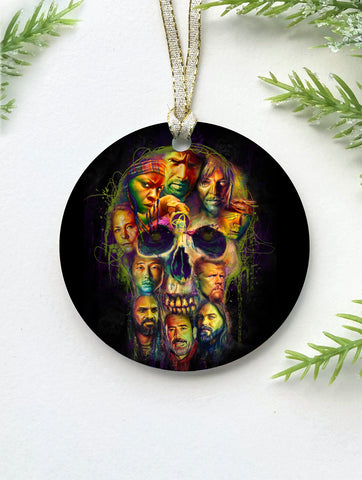 TWD Skull Ornament