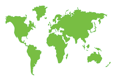 an outline of the world map