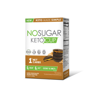 PROMO - No Sugar Keto Cup Dark Chocolate Peanut Butter - 10 Cups