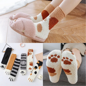 Cat Claws Cute Thick Warm Sleep Floor Socks