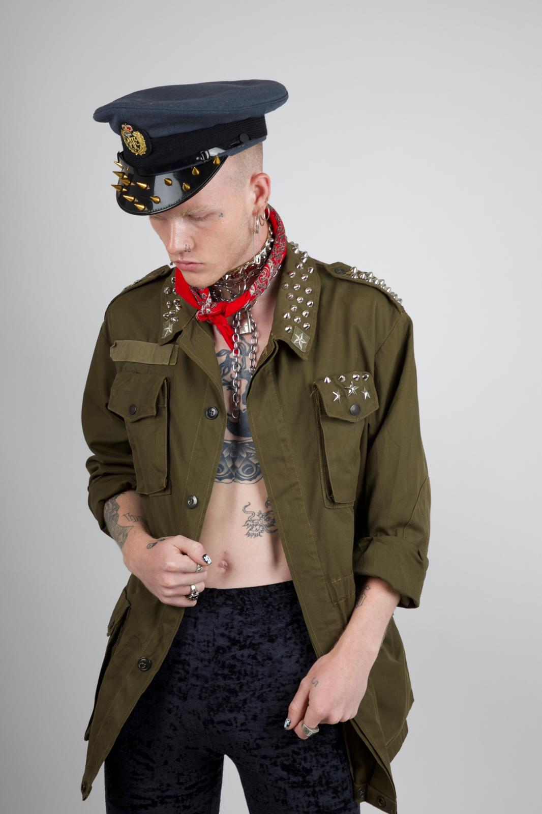 Studded Eagle Army Jacket (Unisex)