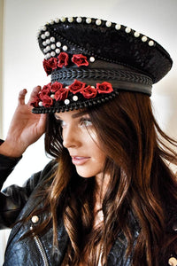BLACK VALENTINE Captains Hat