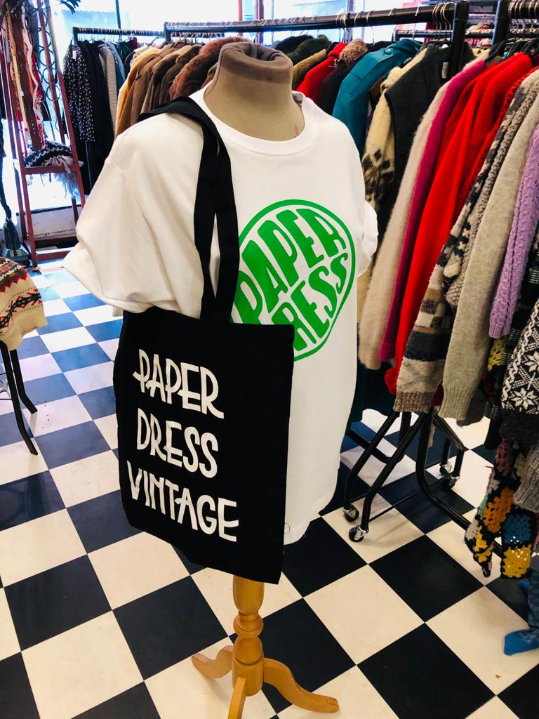Paper Dress Vintage Own Brand Tote Bag