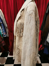 Load image into Gallery viewer, Vintage 1980s Beige Leather Suede Tassel Jacket