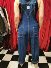 Load image into Gallery viewer, Vintage 1980s Dark Blue Denim Cotton Long Liberty Dungarees