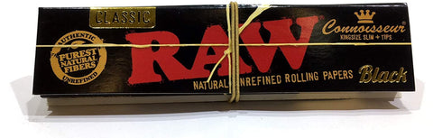 RAW Black Classic Connoisseur King Size Slim + Tips