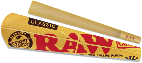 Raw Kingsize Pre Rolled Cones x3 Unbleached Papers