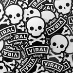Viral Skull sticker