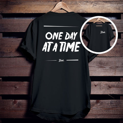 ONE DAY AT A TIME 'double sided' Tee