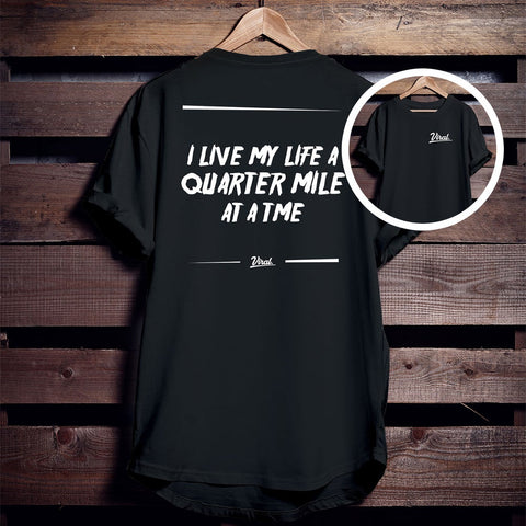 QUARTER MILE 'double sided' Tee
