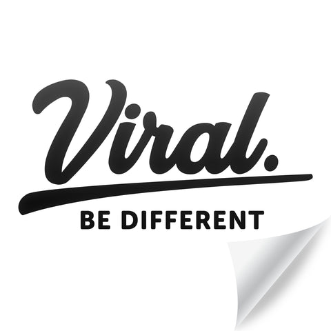 Viral Script Sticker [Available in 2 sizes]