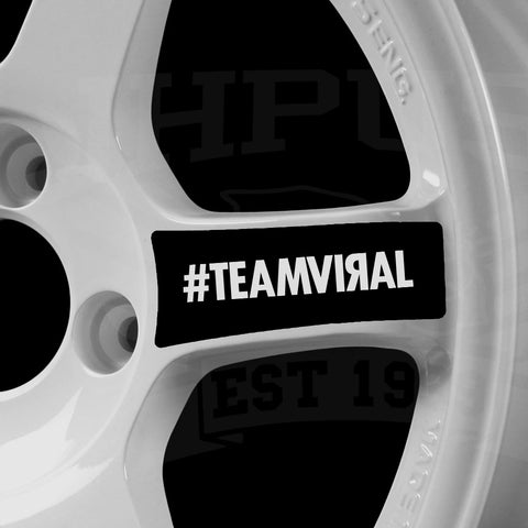 Teamviral wheel sticker set [BOLA B1, Rota grid]