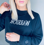 Warrior Black Cropped Sweatshirt