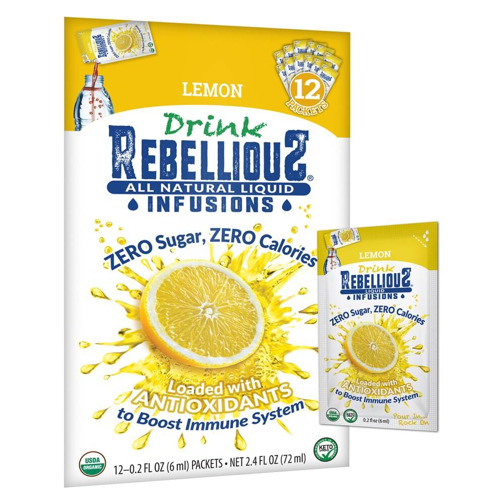 Rebellious Infusions Lemon 12-pack Liquid Packet