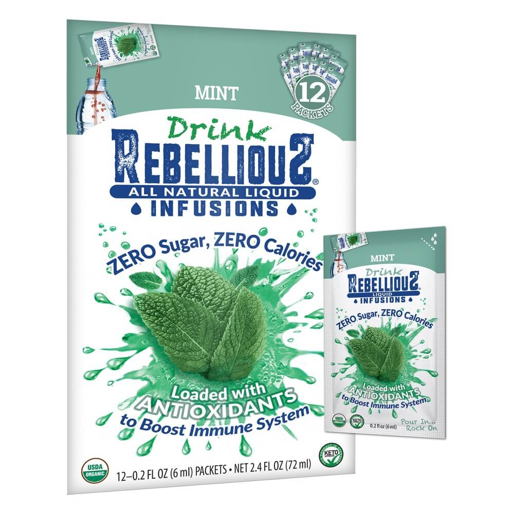 Rebellious Infusions Mint 12-pack Liquid Packet
