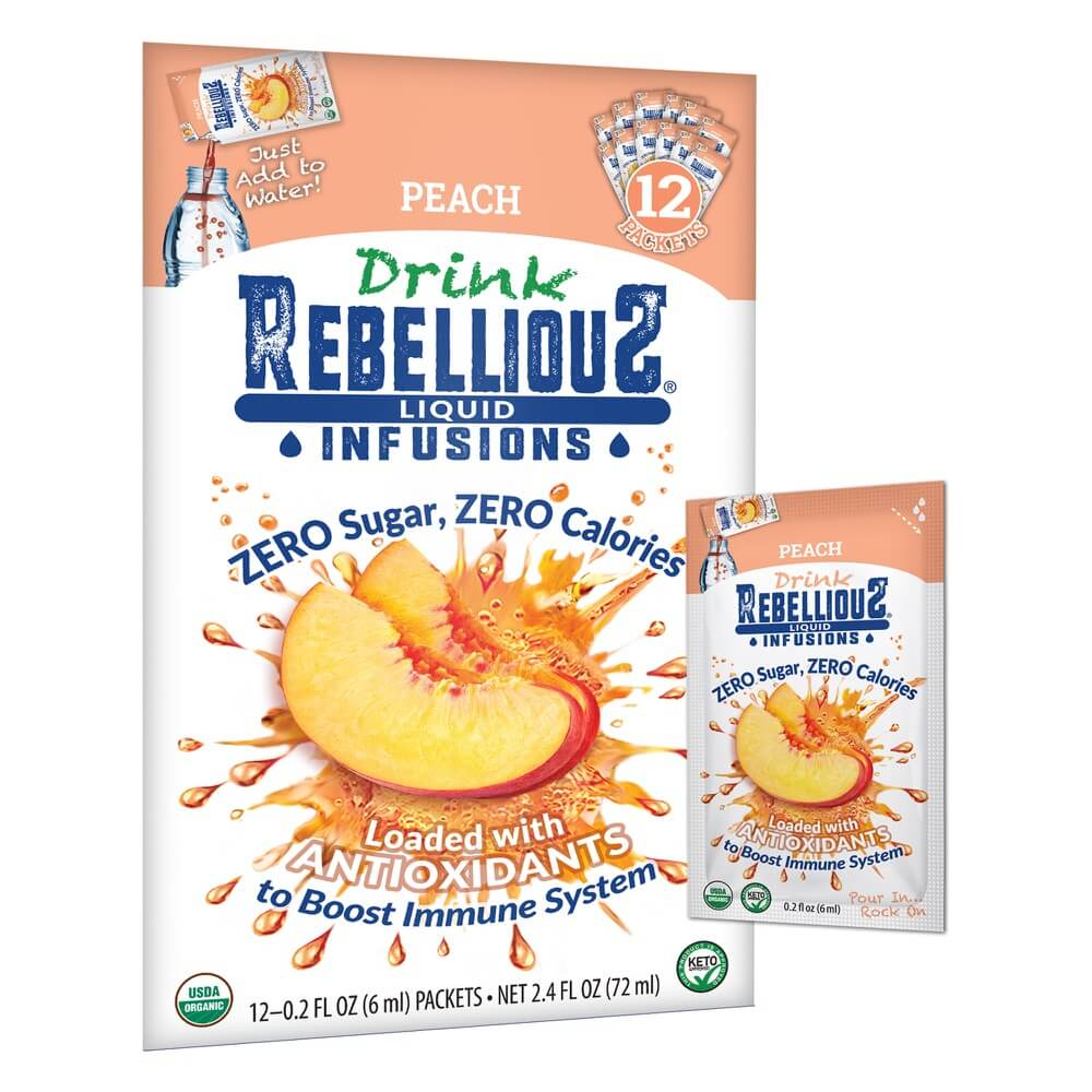 Rebellious Infusions Peach 12-pack Liquid Packet