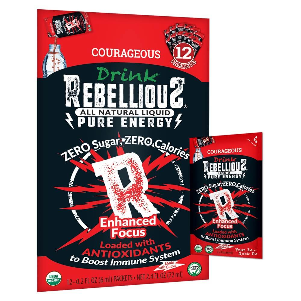 Rebellious Pure Energy Infusions Courageous Cherry Guava 12-pack Liquid Packet