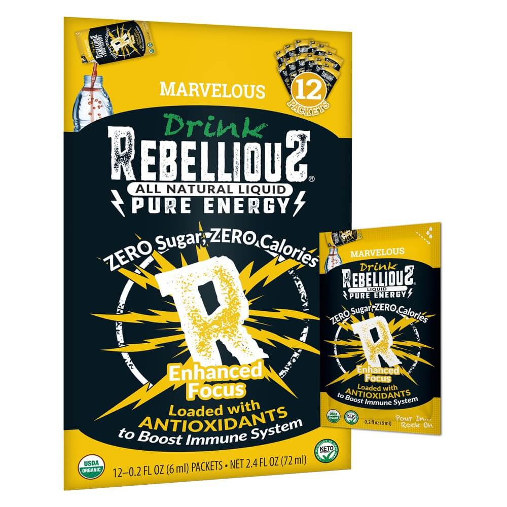 Rebellious Pure Energy Infusions Marvelous Mango 12-pack Liquid Packet