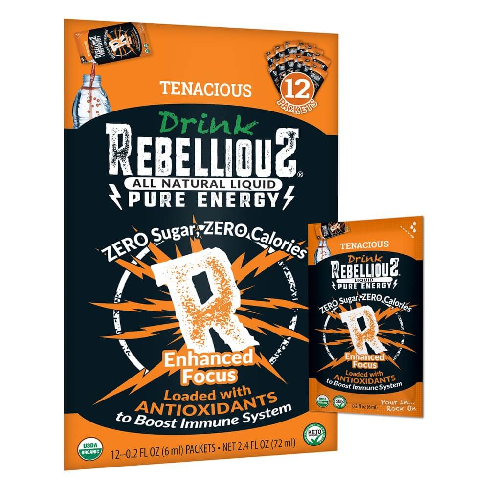 Rebellious Pure Energy Infusions Tenacious Tangerine 12-pack Liquid Packet