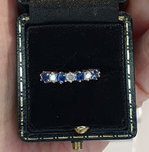 Load image into Gallery viewer, 18ct Gold Sapphire & Diamond Half Eternity