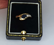 Load image into Gallery viewer, 18ct Gold Sapphire & Diamond Snake Ring