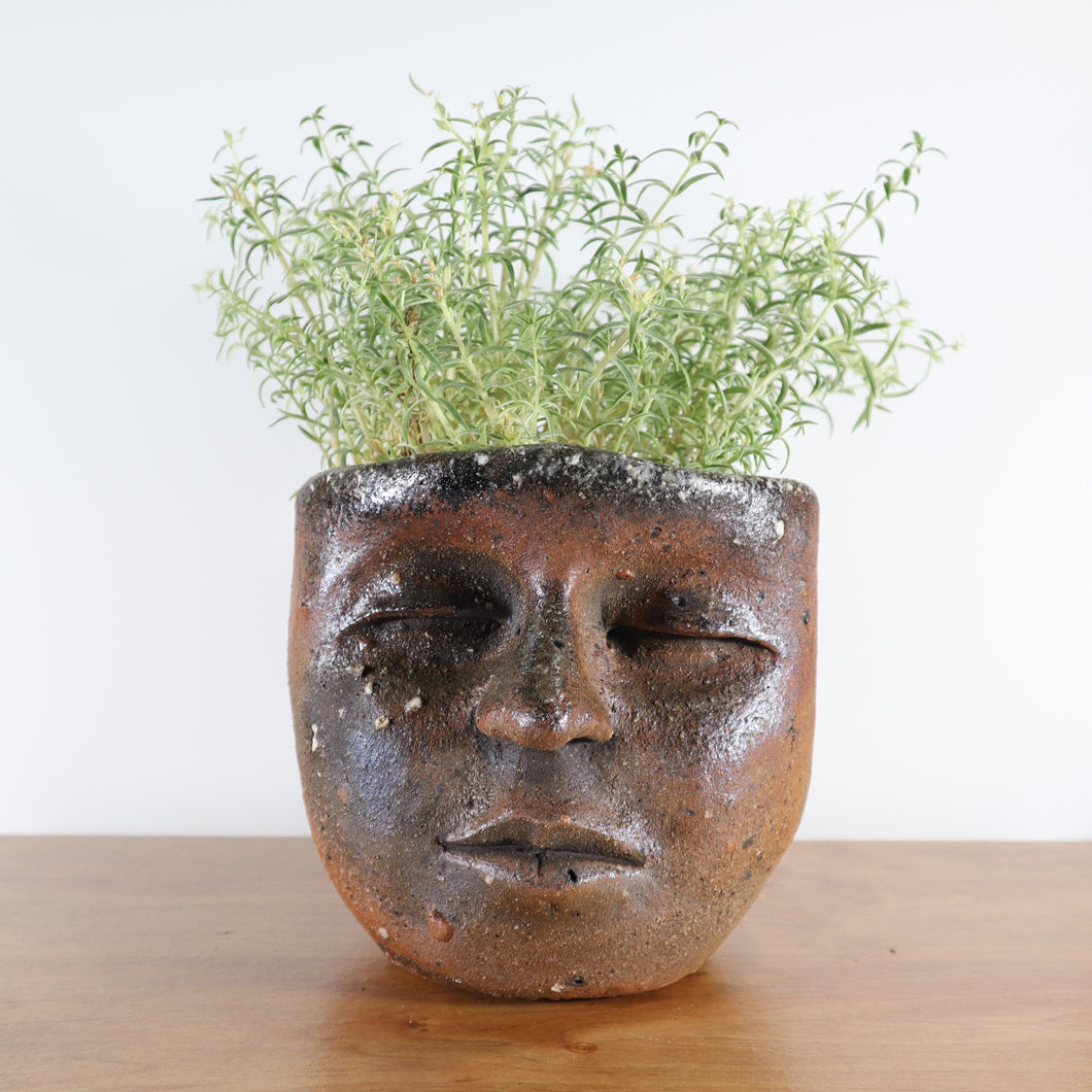 Peaceful Wood-fired Face Planter