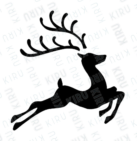 christmas reindeer stencil for walls and furniture mylar made by kiru