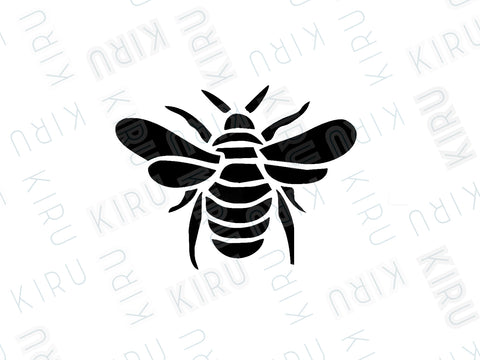 bee reusable mylar wall furniture stencil by kiru