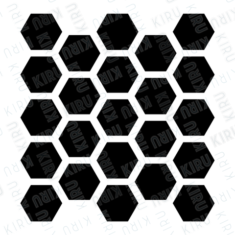 honeycomb stencil for walls and furniture mylar made by kiru
