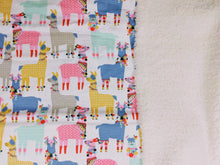 Load image into Gallery viewer, rainbow llama baby blanket