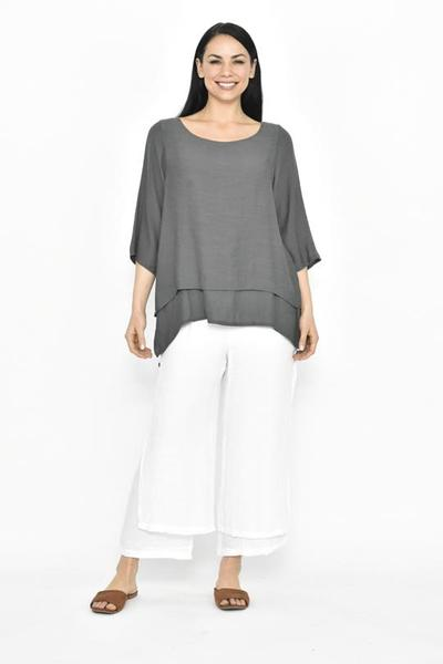 3/4 SLEEVE LAYERED TOP - No image set - Ebony Boutique NZ