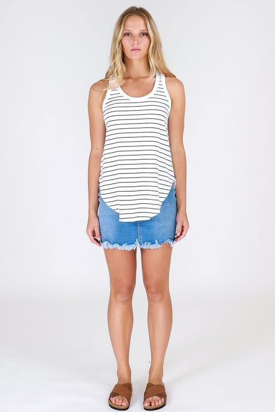 3RD STORY HAMILTON TANK STRIPE - FA8683 - Ebony Boutique NZ