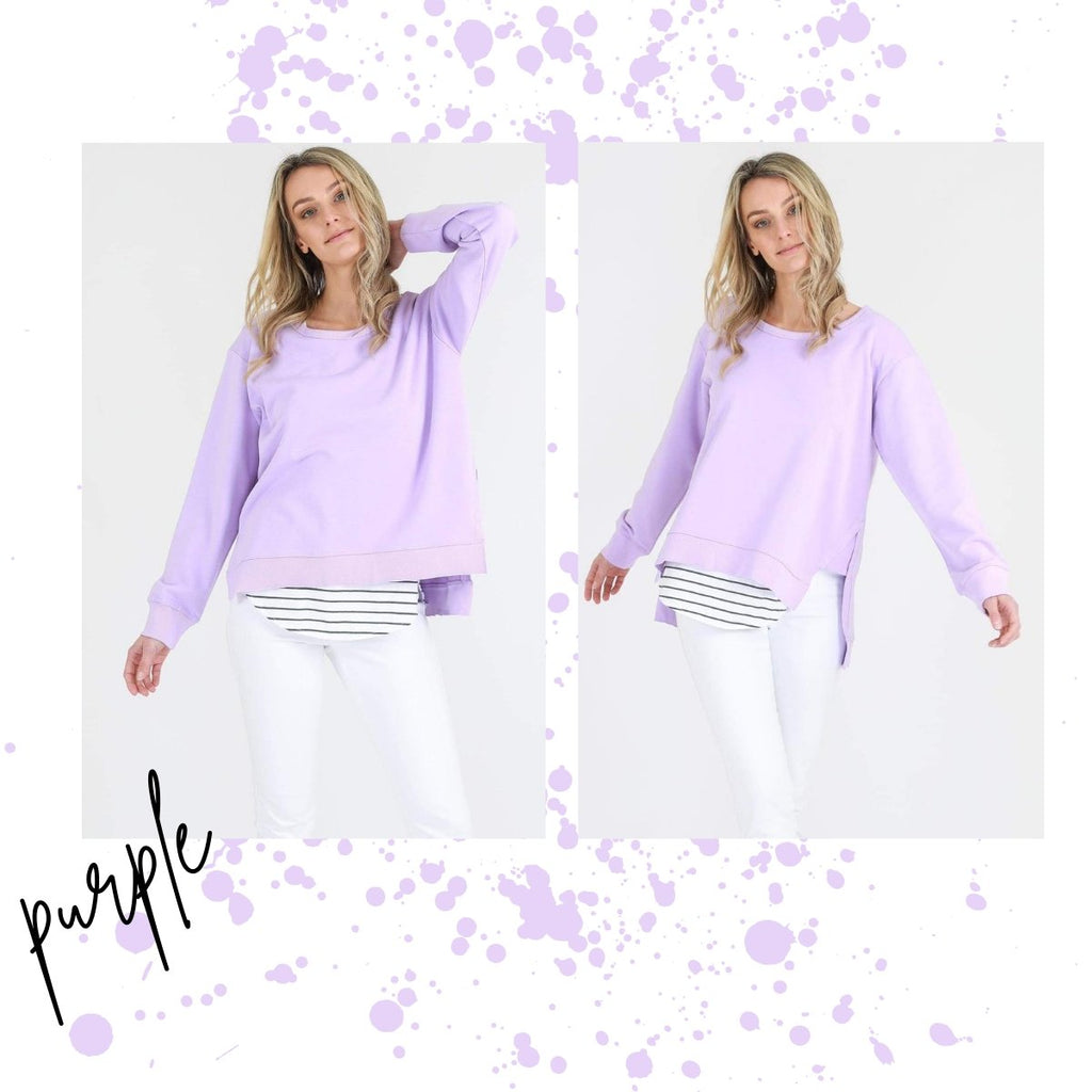 3RD STORY ULVERSTONE SWEATER NEON PURPLE - 3RD STORY ULVERSTONE SWEATER NEON PURPLE - Ebony Boutique NZ
