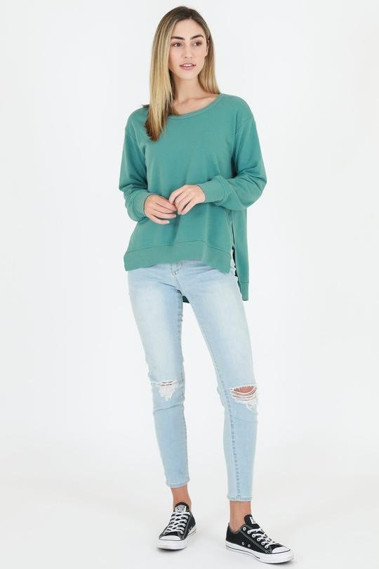 3RD STORY ULVERSTONE SWEATER SEA GREEN - 3RD STORY ULVERSTONE SWEATER SEA GREEN - Ebony Boutique NZ