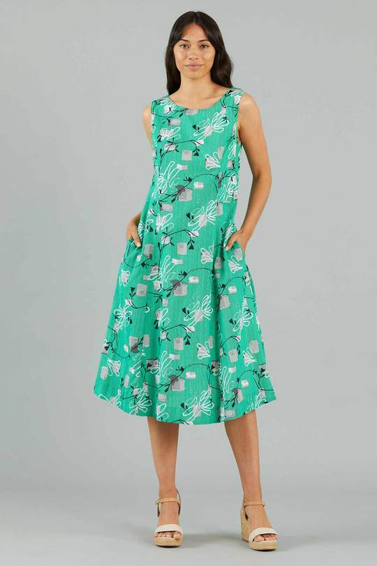 YARRA TRAIL COMBINATION PRINT DRESS