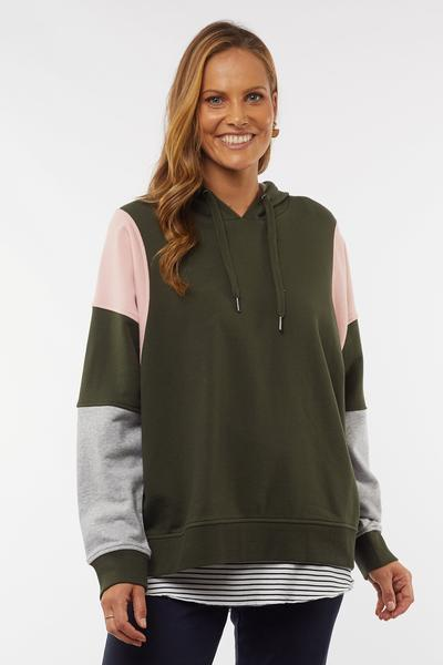 AMELIA PANEL HOODY - AMELIA PANEL HOODY - Ebony Boutique NZ