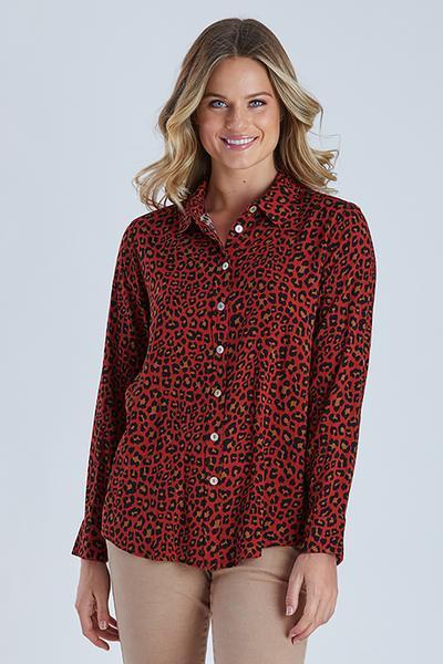 ANIMAL PRINT SHIRT - ANIMAL PRINT SHIRT - Ebony Boutique NZ