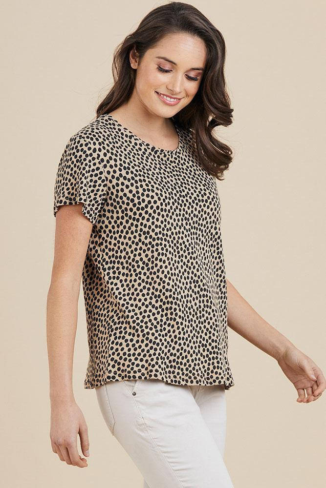 ANIMAL SPOT TEE - No image set - Ebony Boutique NZ