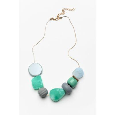 ARIELLE NECKLACE TEAL - ARIELLE NECKLACE TEAL - Ebony Boutique NZ