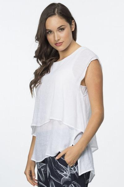 BASIC LAYERED TOP - THR20277 - Ebony Boutique NZ