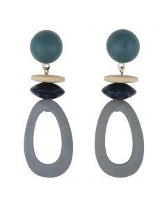 BAY EARRINGS BLUE - BAY EARRINGS BLUE - Ebony Boutique NZ