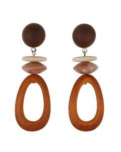 BAY EARRINGS MOCHA - BAY EARRINGS MOCHA - Ebony Boutique NZ